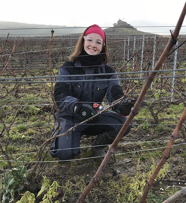 juliette Rousseaux dans les vignes