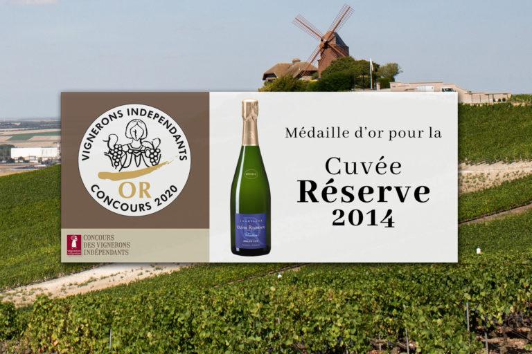 medaille d'or cuvée réserve tradition 2014